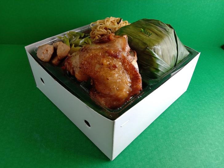 121 Nasi Kotak Ayam Goreng Mie Goreng Oseng Buncis