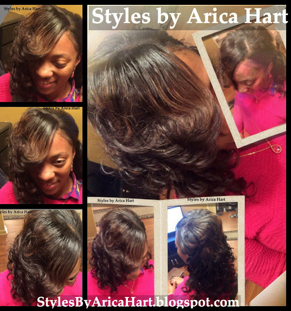Black hairstyles, sew in for women, weave