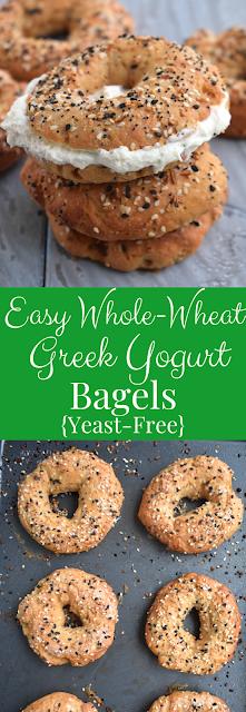 Easy Whole-Wheat Greek Yogurt Bagels