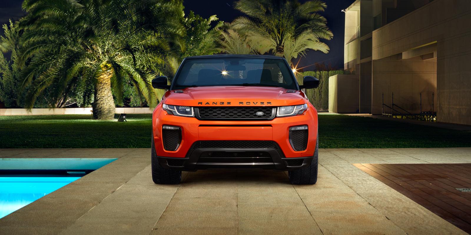 range rover evoque màu cam nổi bật phiên bản mui mềm