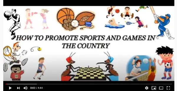 How to promote sports and games in the country