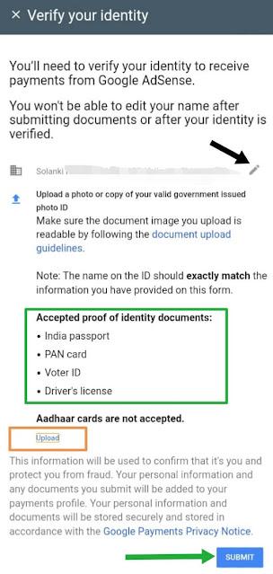 google adsense identity verification, adsense account identity verify kaise kare, google adsense identity verification successful, how to verify google adsense account