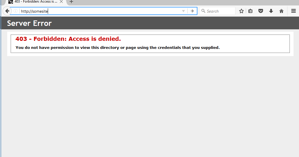 IIS Authentication Issue 403 - Forbidden: Access is denied