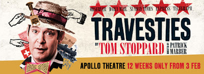 Banner poster for the current run of Tom Stoppard's Travesties