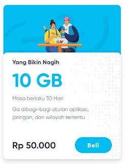 Paket data By.u Yang Bikin Nagih 10GB 50.000 Masa Aktif 30 Hari