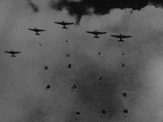 Japanese paratroopers landing near Palembang, 13 February 1942 worldwartwo.filminspector.com