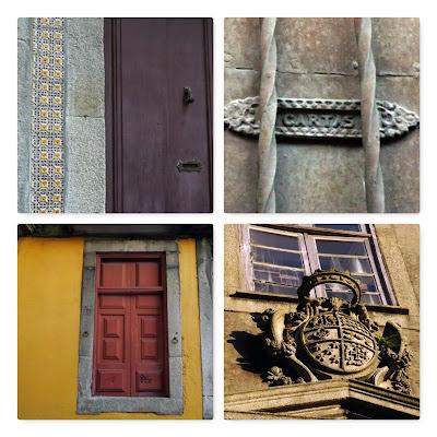 detalhes das fachadas da Rua de São Bento da Vitória no Porto