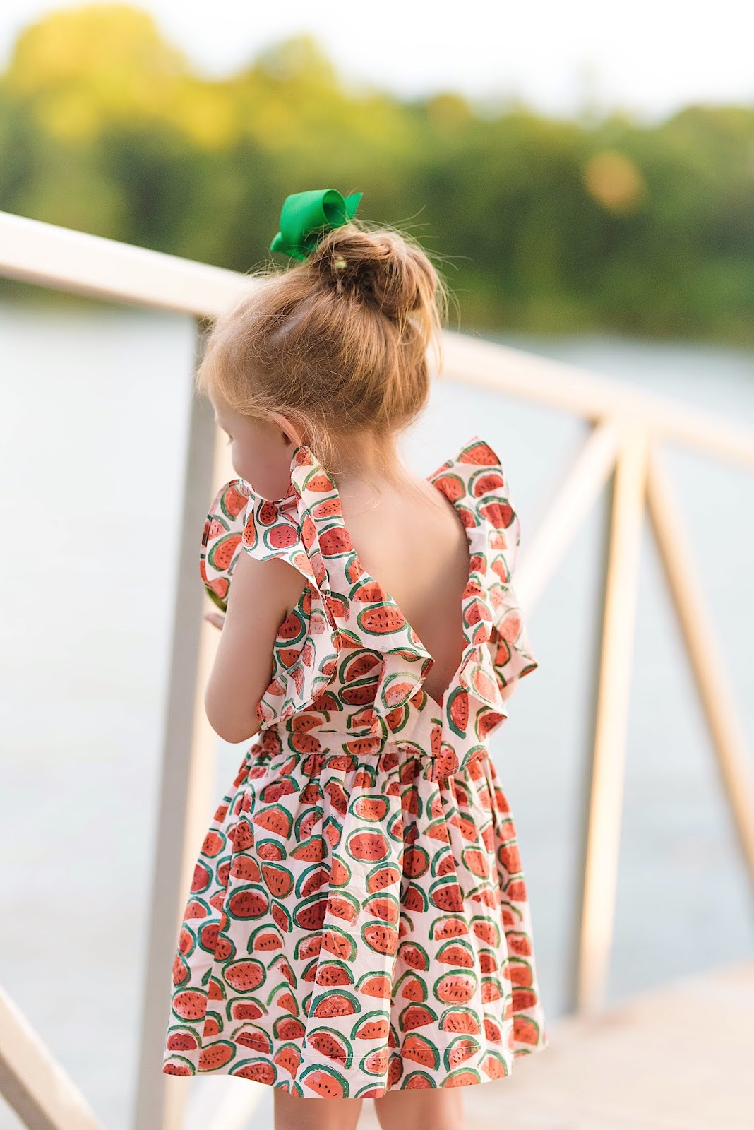 Girls J.Crew Factory Ruffle Watermelon Dress - Something Delightful Blog