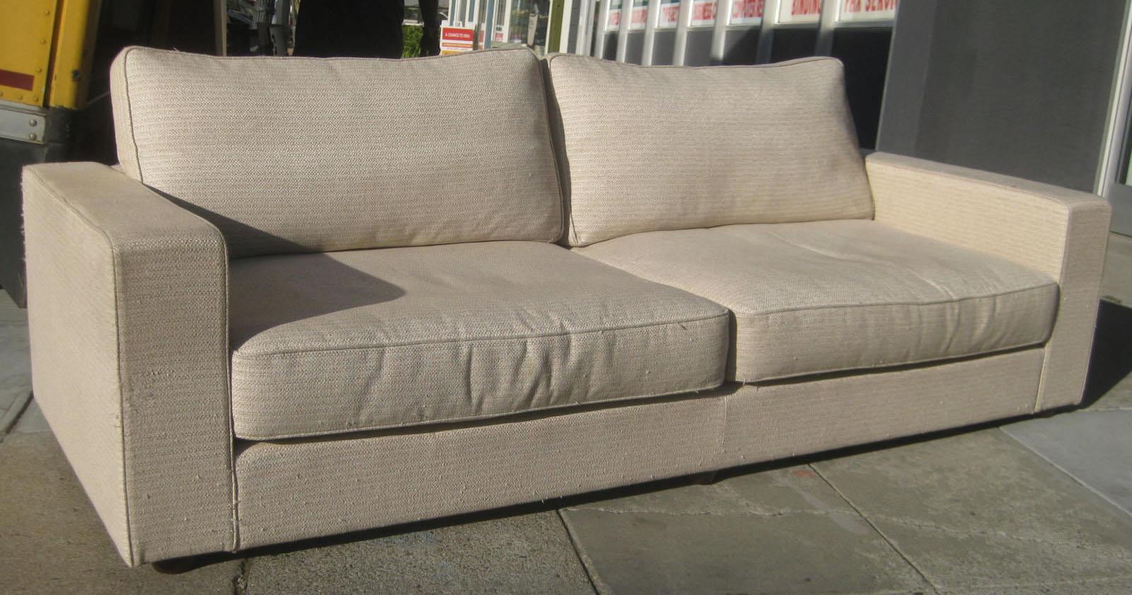 UHURU FURNITURE & COLLECTIBLES: SOLD - Boxy Off-White Sofa