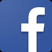 青色の背景に白抜きの「f」文字のFaceBookのマーク