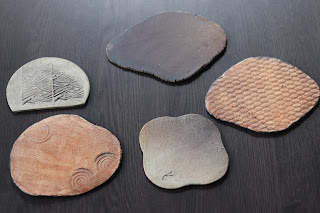 山野草盆栽の鉢 陶芸体験教室 完成陶盤