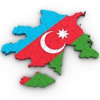 флаг Азербайджана в виде карты