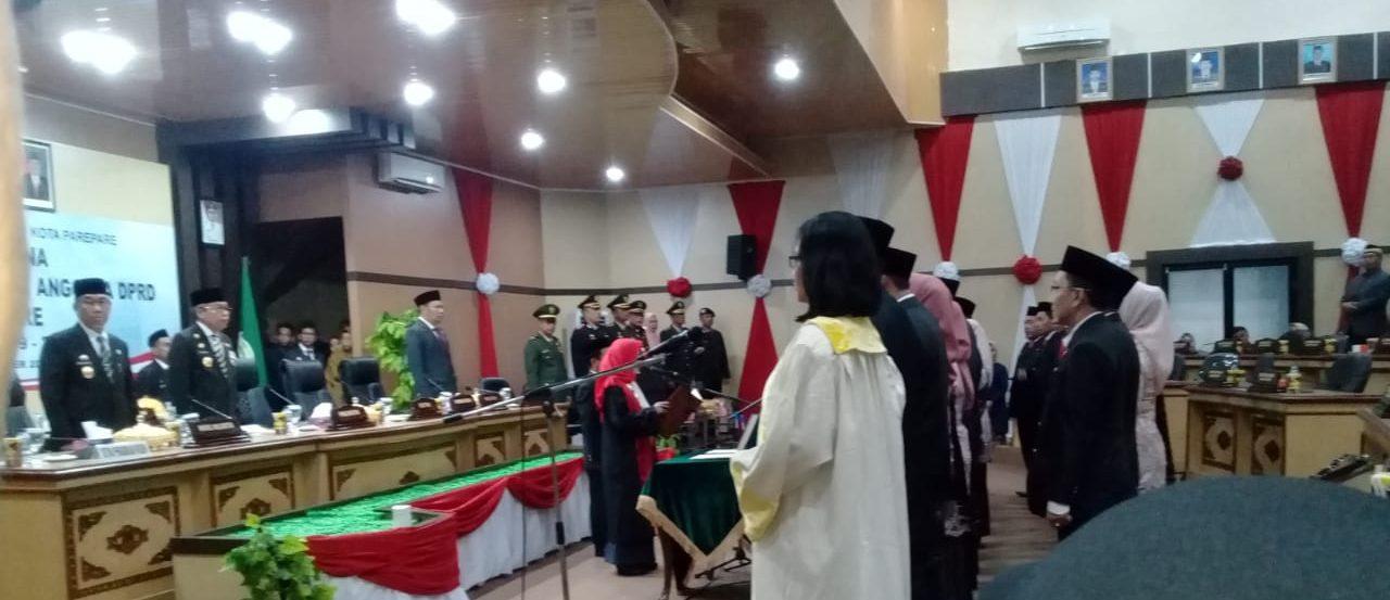 Resmi Dilantik, Ini Harapan Walikota Parepare Kepada Anggota DPRD