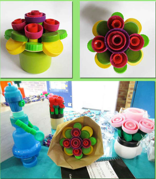 School project idea for kids, flower decoration