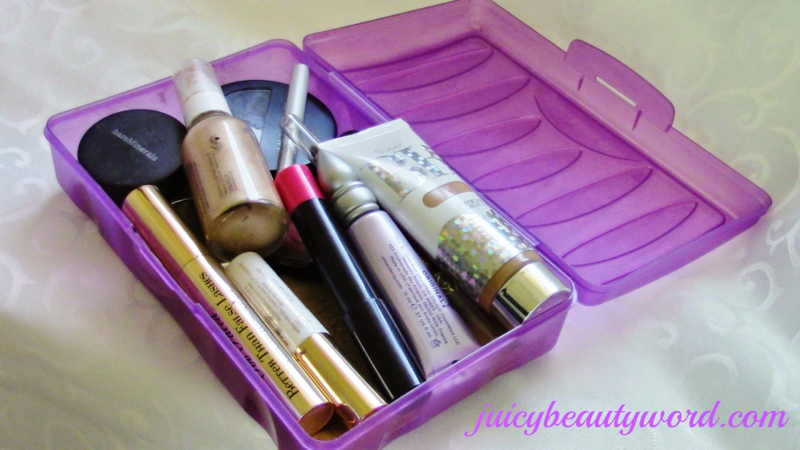 school supplies box for makeup