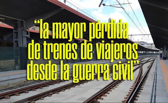 Muy grave lo de los servicios ferroviarios en Galicia...