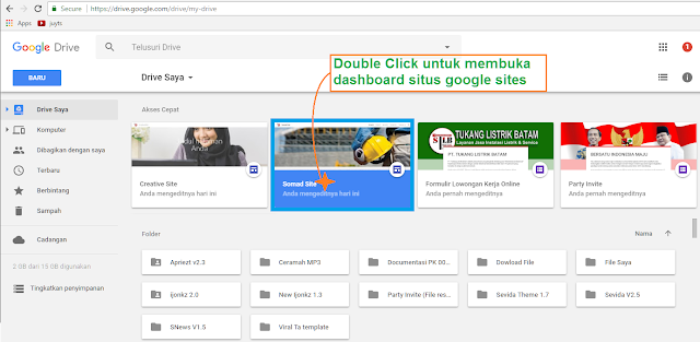 Google Sites: Membuat Menu Navigasi Website Gambar 2