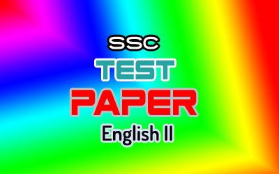 SSC Test Paper English II   Govt. Laboratory High School, Dhaka