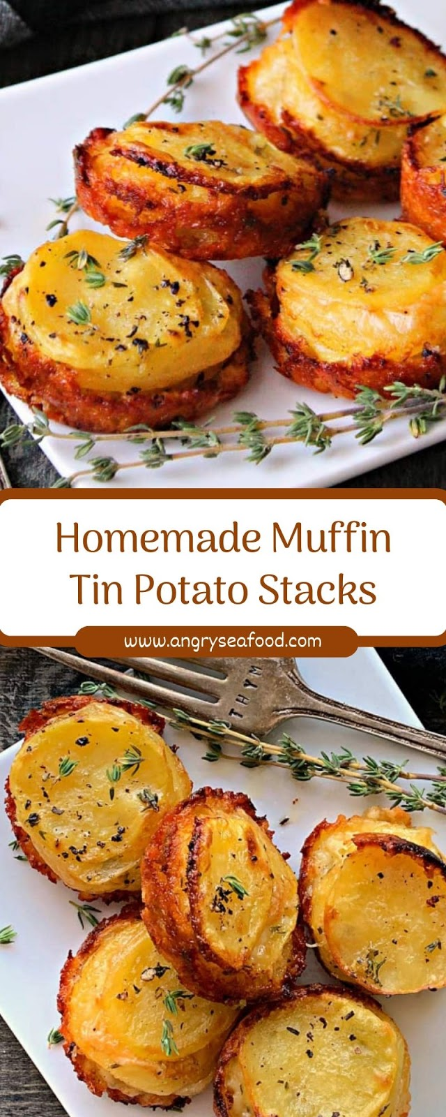 Homemade Muffin Tin Potato Stacks