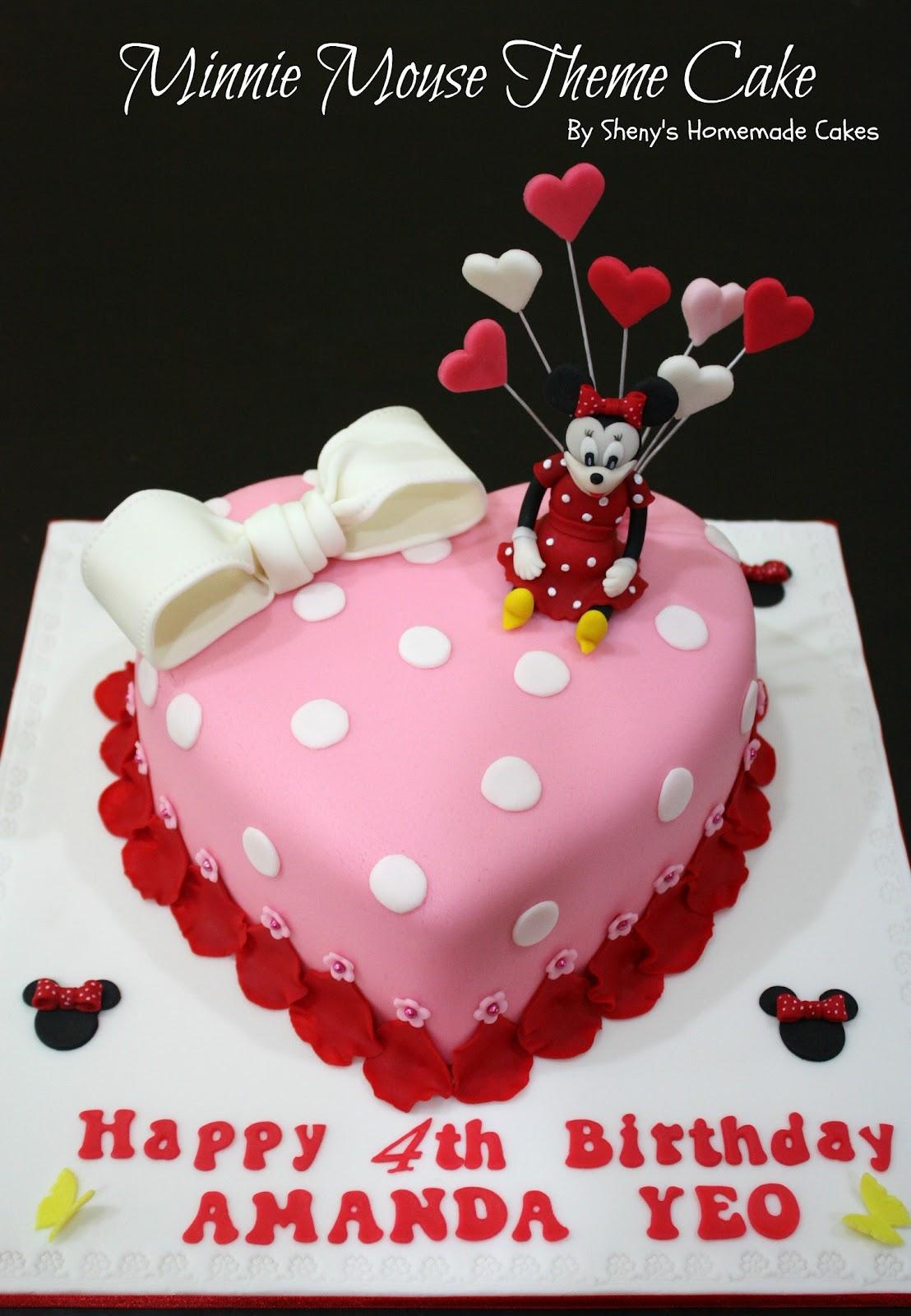 Sheny S Homemade Treats Minnie Mouse Theme Birthday Cake