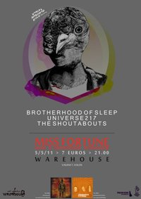 5 May: Brotherhood Of Sleep, Universe217, The Shoutabouts live @ Volos