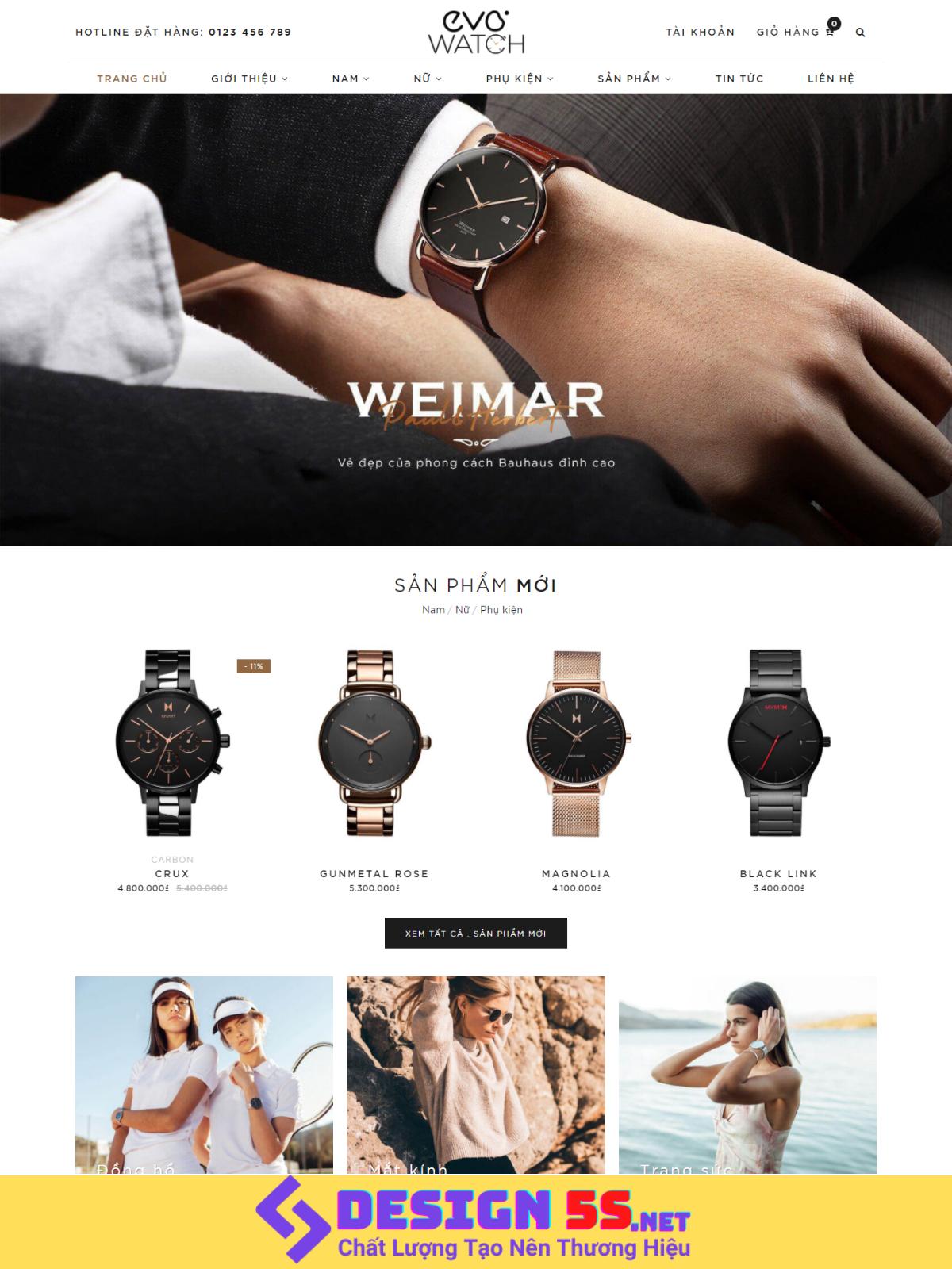 Theme blogspot bán hàng Đồng hồ đeo tay VSM85 - Ảnh 1