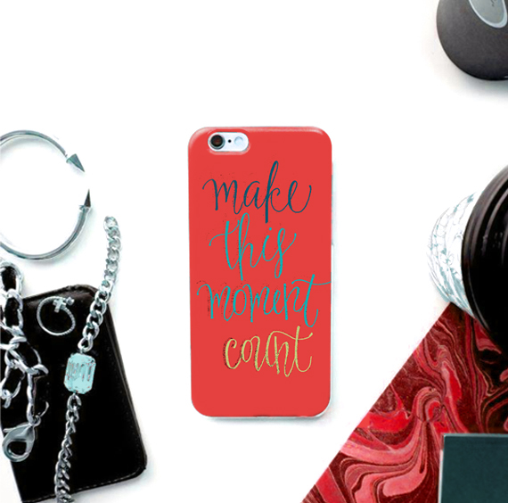 customized mobile cases, inspirational quote, lettering, redbubble