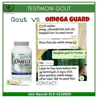 Kelebihan dan Testimoni Omega Guard Shaklee Untuk Sakit Gout