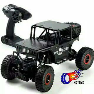 Mobil RC OFFROAD JEEP ARMY 4WD Hitam