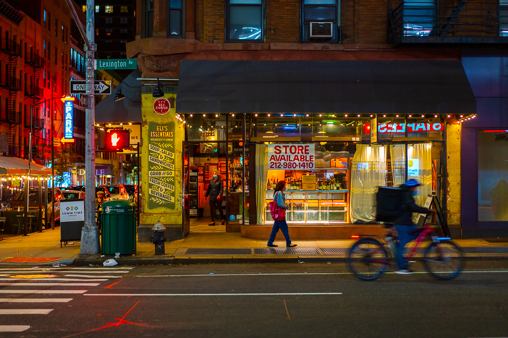 a handheld night photo in new york city daniel south photography