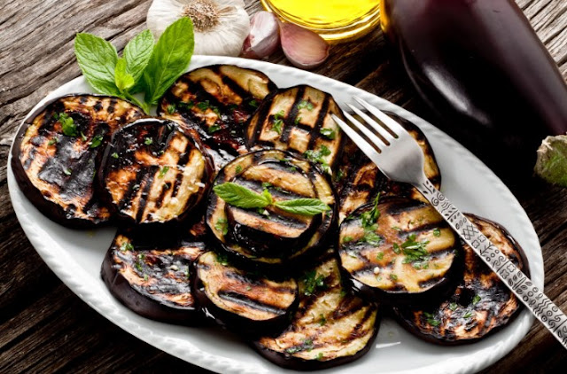 Grilled Eggplant with Garlic & Herbs #vegan #recipes