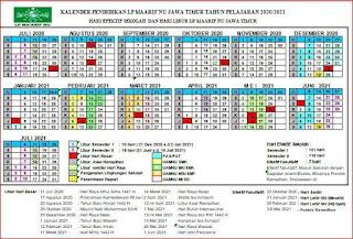 Kaldik LP Maarif NU Jawa Timur TA 2020/2021