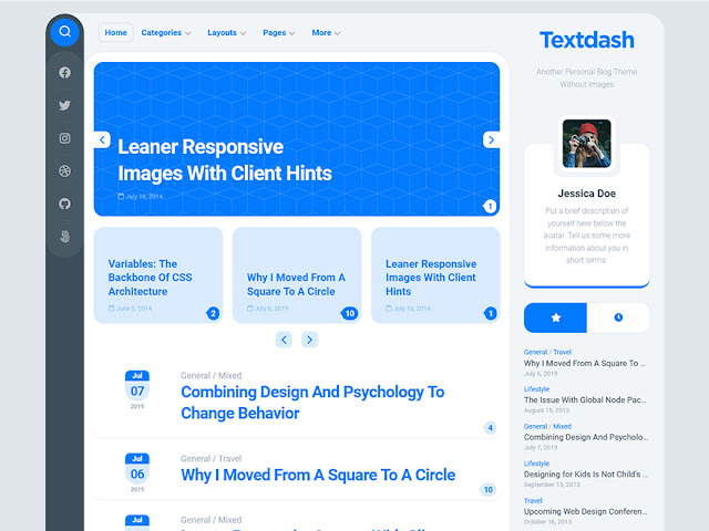 Textdash Best Free WordPress Themes For Blogs 2021