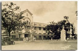 Old campus of the Jesuit Colegio de San Jose. Planned as the postwar location of Ateneo de Manila but eventually acquired by Manila Central University