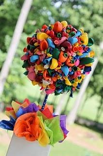 Balonlardan Çiçek Yapımı