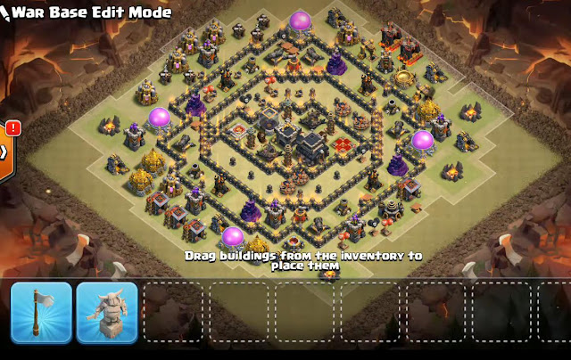 Best Th9 War Base With Bomb Tower Anti Everything Anti Valkyrie Anti 2 Star Anti 3 Star