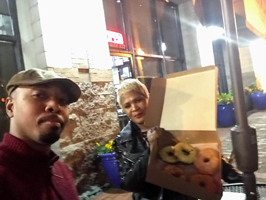 Couples goes on date night at Urban Donuts Shop in Dallas Texas. The Joyful List