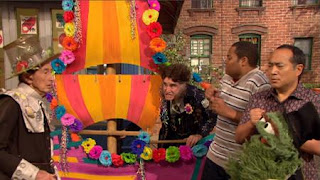 Alan, Chris, Oscar the Grouch, Mr. Disgracey, Richard Kind, Bob, the Maysour float, Sesame Street Episode 4324 Trashgiving Day season 43