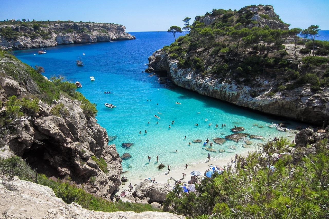 Caló des Moro beach in Mallorca