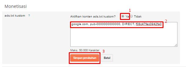 Setting Ads.txt Kustom
