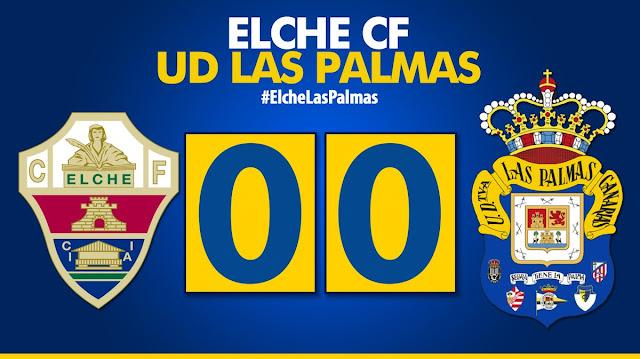 Marcador final Elche CF 0-0 UD Las Palmas