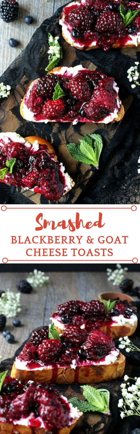 SMASHED BLACKBERRY & GOAT CHEESE TOASTS #desserts #diet #blackberry #food #yummy