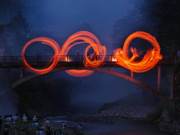 Fire Ring Festival, Ohinata, Nanmoku Village, Gumma Pref.