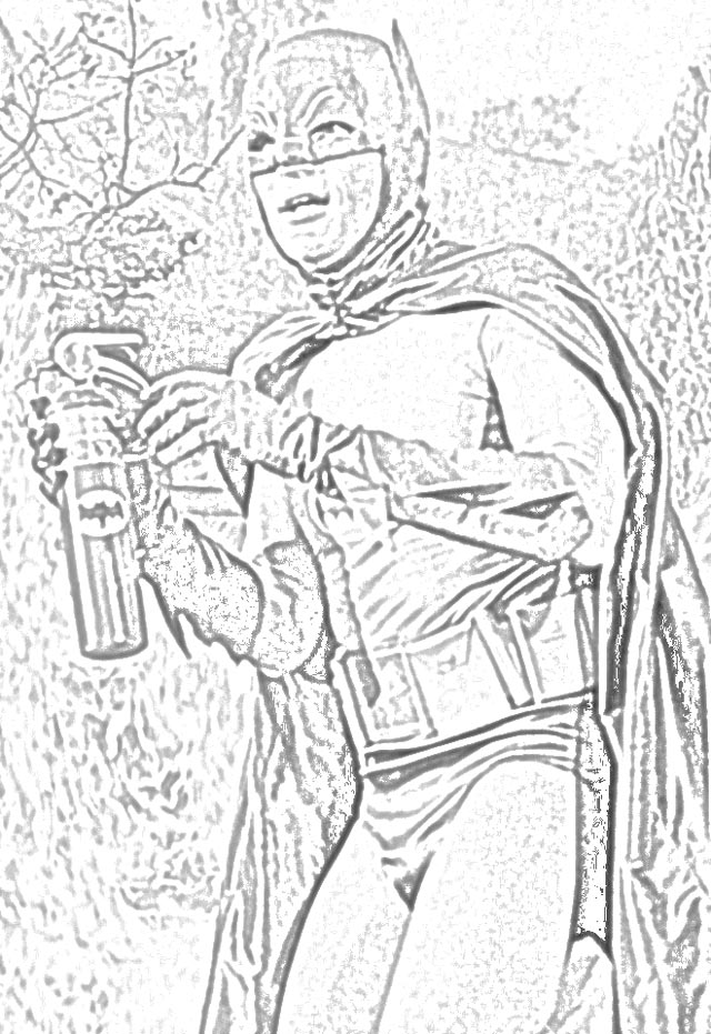 The Holiday Site: Coloring Pages of the Classic Batman TV ...