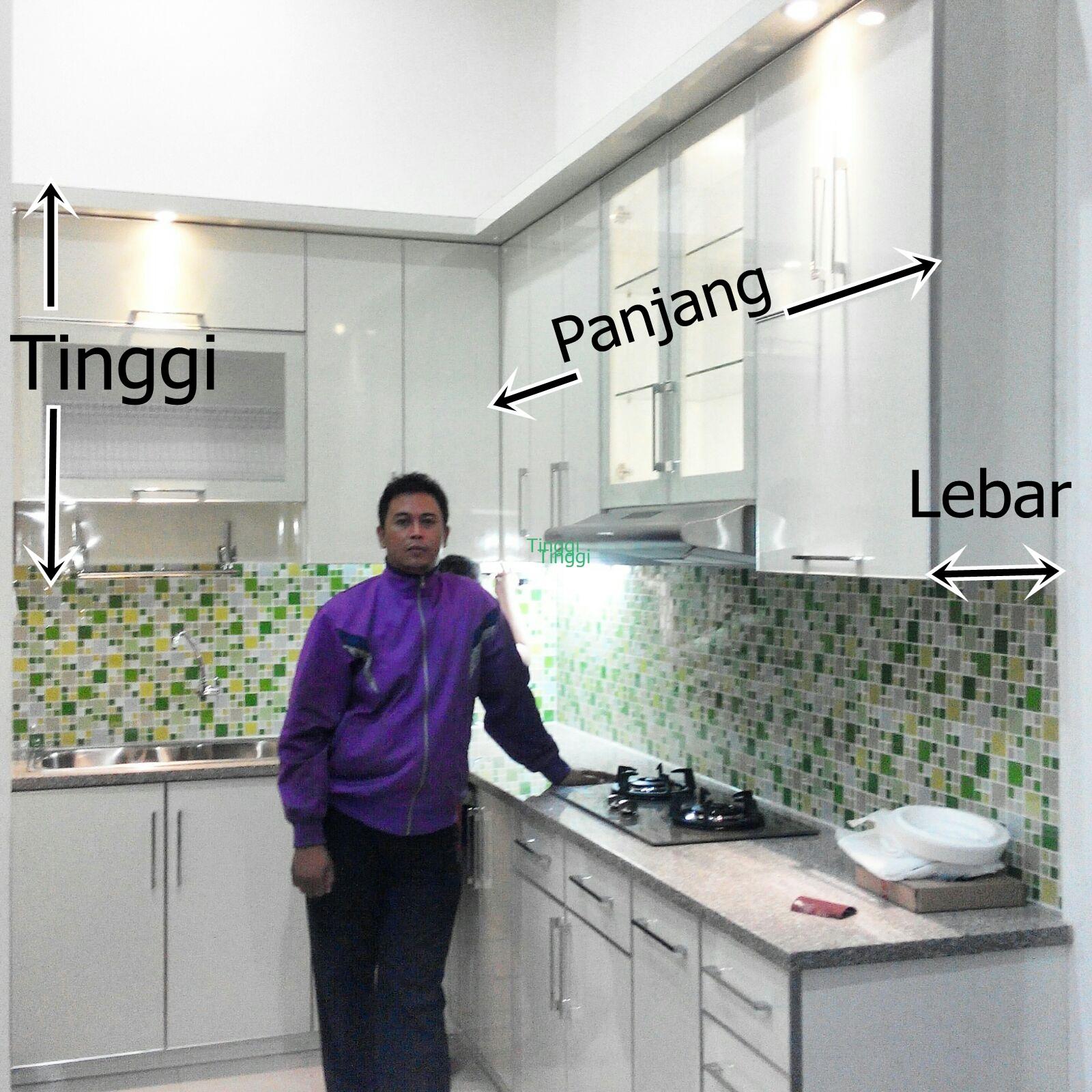 Hitungan Sederhana Harga Kitchen Set Per Meter 2018 Dapur Pro