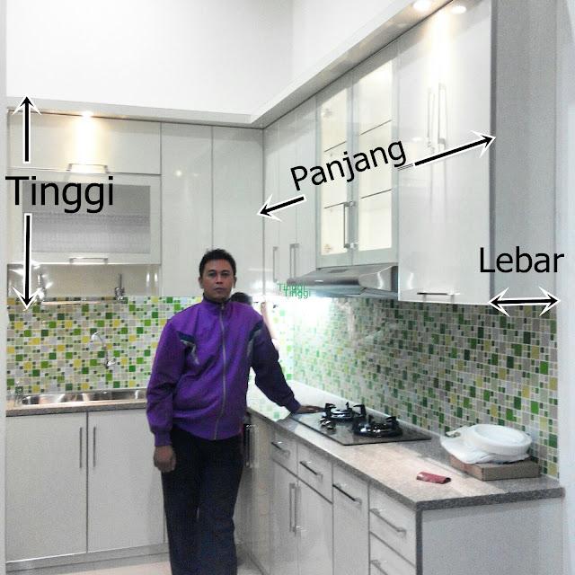 penjelasan ukuran panjang, tinggi dan lebar kitchen set