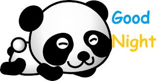good night cute baby panda