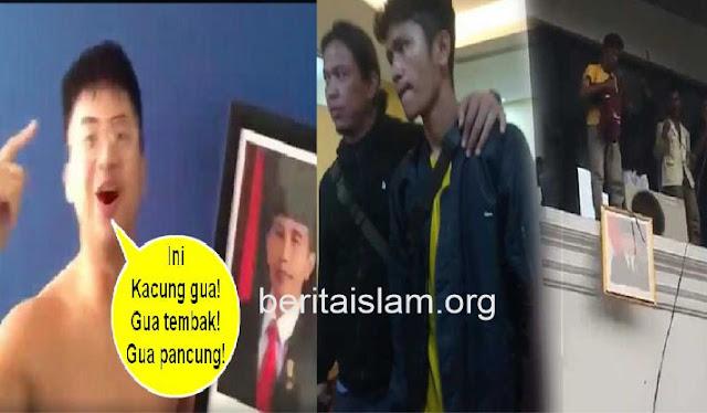 Mahasiswa Turunkan Foto Jokowi Jadi Tersangka, Warganet Ungkit Anak China Akan Tembak Jokowi Bebas