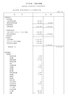 第4期活動計算書・貸借対照表