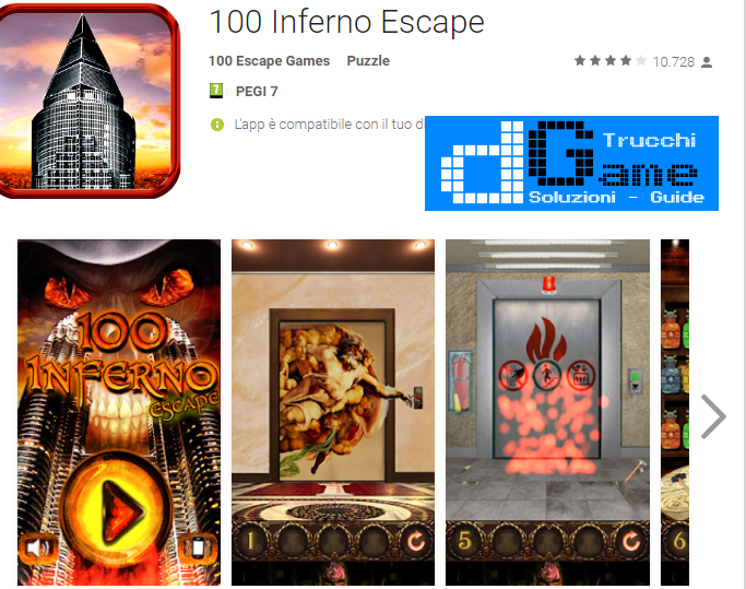 Soluzioni 100 Inferno Escape livello 1-2-3-4-5-6-7-8-9-10 | Trucchi e Walkthrough level